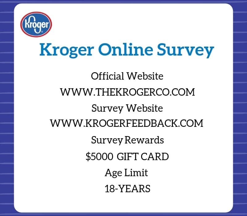 Kroger customer feedback