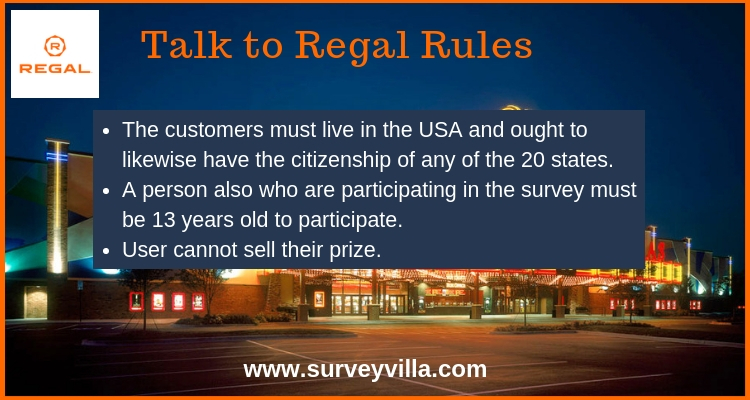 Talk to regal customer satisfaction survey