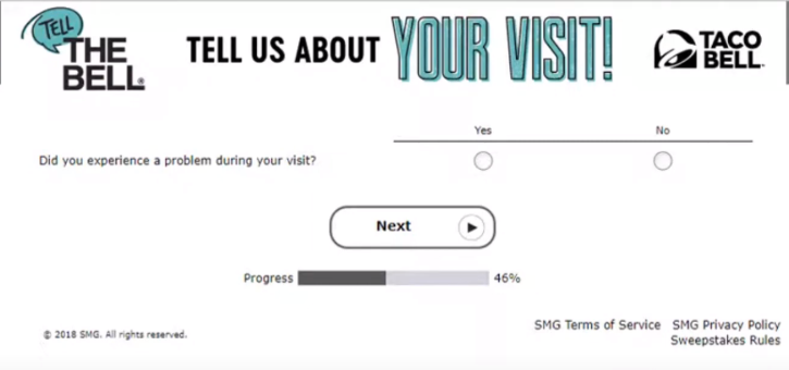 Tellthebell survey Fifth Step