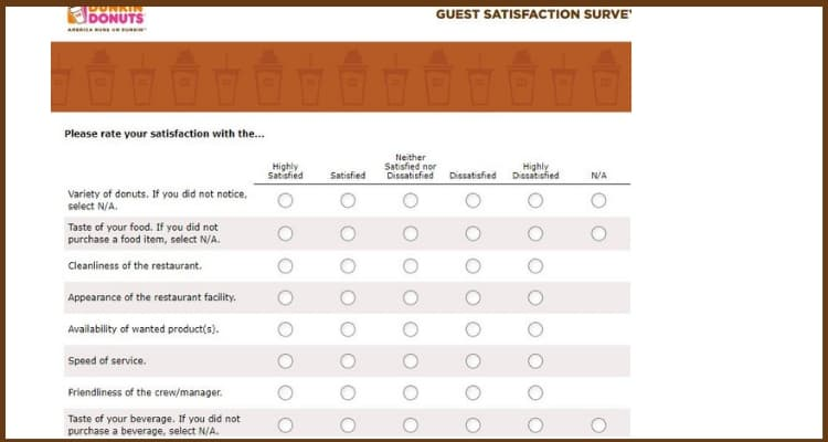 Telldunkinbaskin Survey screen
