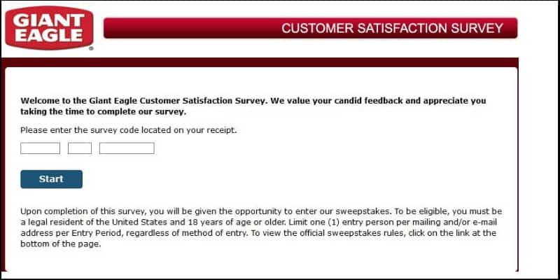 Giant Eagle Listens feedback survey