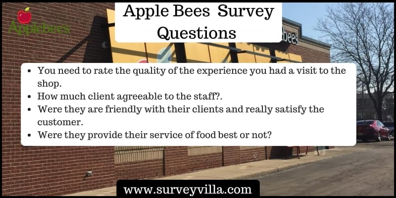 Apple Bees Satisfaction Survey