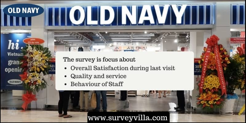 Old navy satisfaction survey