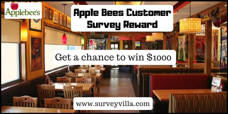 TalktoApplebees customer satisfaction survey