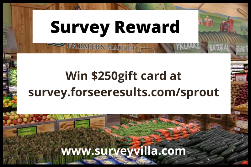 Sprouts Survey Prize