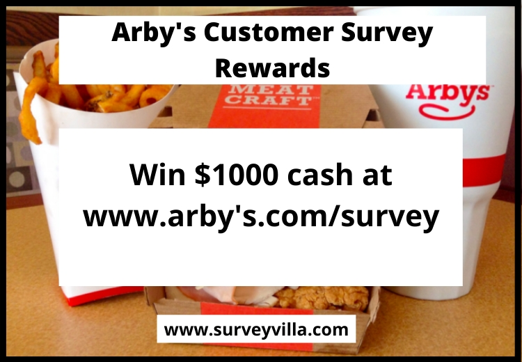 www.arby's.com/survey with in 2 days